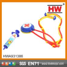 Brinquedo plástico do estetoscópio do jogo do doutor das crianças as mais vendidas 2015