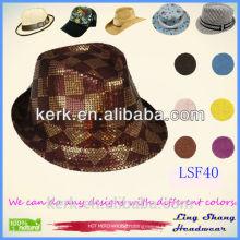 Hot Sale Fashion Popular Unisex Men Women Vintage Style Blower Jazz Round Dome Top Hat Trilby Cap Fedora Decor Summer Hat