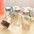 70ml mini garrafas de vidro de condimento para armazenamento Salt Spice