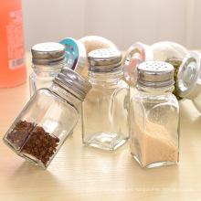 70ml botellas de vidrio mini condimento para el almacenamiento de sal especias