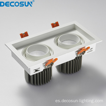 Focos empotrables de techo LED cuadrados regulables AC230V rectangulares