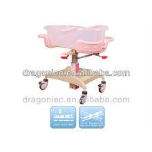 DW-CB08 adjustable baby bed of steel epoxy for newborn in hospita