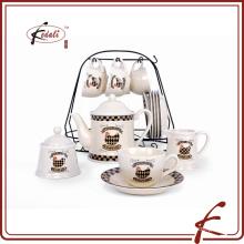 Изысканный дизайн керамический чай pot комплект