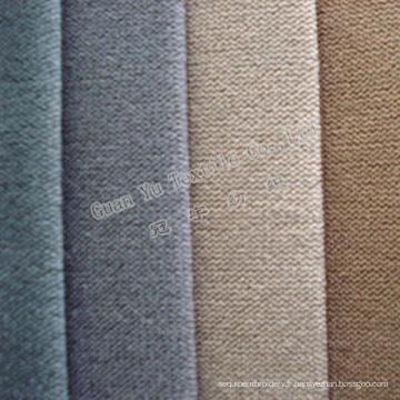 Tissu de sofa de velours de cation super doux de tapisserie d'ameublement avec le support de T / C