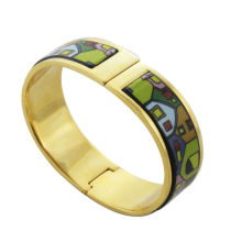 wholesale alibaba. 2014 fashion, gold plated enamel bangles with colorful shape
