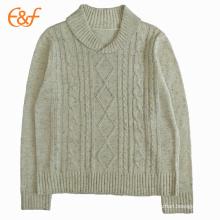 Suéteres de jersey de punto de cremallera Nepyarn para hombre