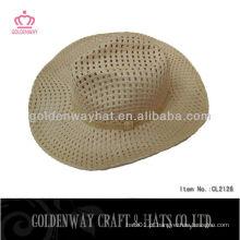 Chapéus de cowboy de palha de moda para homens de verão