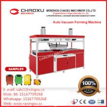 Máquina termoformadora para aquecimento a vácuo dupla superior-inferior automática