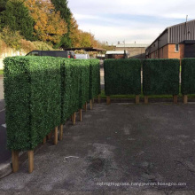 China supplier customized size artificial box hedge with planter