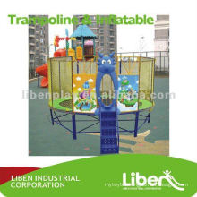 Kids outdoor gymnastic trampoline equipment LE.BC.014