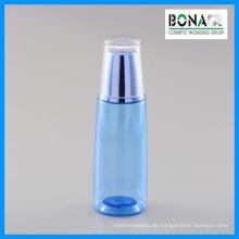 Kosmetische Flasche des Haustier-150ml mit Doubal-Wand-Acrylkappe