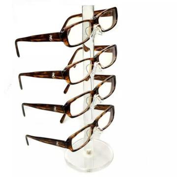 Acrylic counter Lock Case Spectacles Cabinet Shelf Plexiglass Eyeglass Desktop Eyewear Sunglasses Stand Display Racks