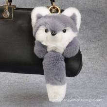 Small Fox Shaped / Different Colors /Rex Rabbit Fur Keychain