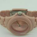 Reloj de lujo de encargo de la prenda impermeable del silicón de la moda para la señora
