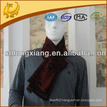 wholesale brushed mens silk scarf with tassel