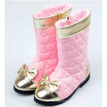 Inviernos niños niña rosa rodilla alta botas largas zapatos al por mayor