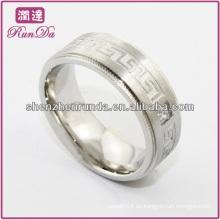 Anillo de moda 2014 anillo de moda de acero inoxidable pulido barato