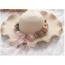 Été promotionnel le long du chapeau de paille soleil, le chapeau de soleil en plein air