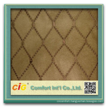 Polyester Sofa Decorative Suede Fabric With Embrodier