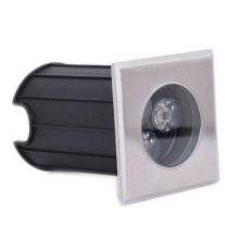 Iluminação externa recesso 3W quadrado de aço inoxidável