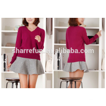 100% cashmere knitted spring sweater