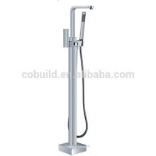 robinet de mélangeur en laiton debout libre de baignoire, robinet de baignoire monté latéral