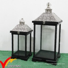 Античный ретро висящий металлический фонарь