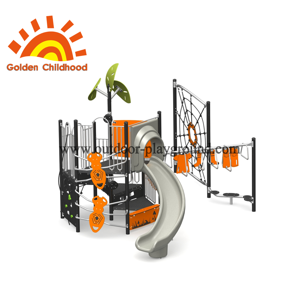 Orange Outdoor Playground Equipment