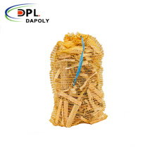 Dapoly customize all colors firewood mesh bag with drawstring mesh firewood bags