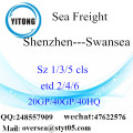 Shenzhen Port Sea Freight Shipping To Swansea