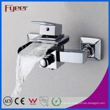 Fyeer Single Handle Wall Mounted Bathroom Waterfall Bathtub Faucet