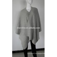 2015 heißer Mode-Stil 7gg gerippt gestrickt 100% reinem Kaschmir Umhang