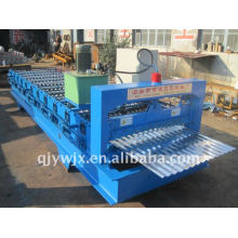 farbige Stahl Camber Dachziegel Roll Formmaschine mit CNC-System