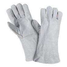 Luvas de couro de solda protetora de trabalho industrial de couro