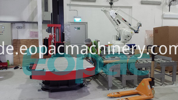 Fully Automatic Stretch Wrapping Line