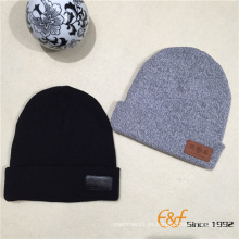 El nuevo hombre del algodón del diseño 2017 hizo punto el sombrero y el casquillo de la gorrita tejida