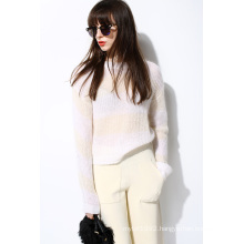 New Mohair Soft Knit Pullover Sweater for Ladies