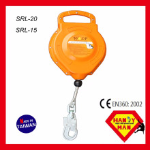 SRL-15 15m 12 kN Certificado com certificação SGS Cable Self Retracting Lifeline