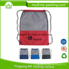 High Quality Advertising Mesh Drawstring Bags