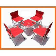 cadeira dobrável e mesa, para acampar