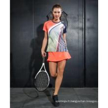 Maillot de badminton personnalisé de chemise de la jeunesse pour des femmes