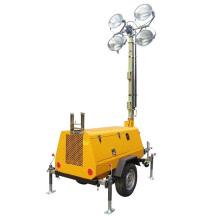 Tragbarer Dieselmotor strahlt Lichtmast aus