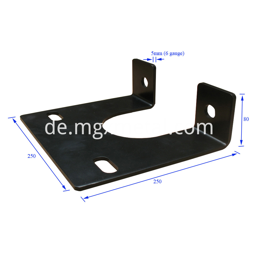 5mm Thick Heavy Duty Motor Mount Plate Dimension