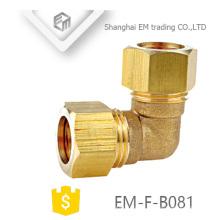 EM-F-B081 Esqueça o encaixe de tubulação de cotovelo de compressão de latão
