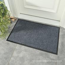 Front indoor entrance floormat outdoor polyester double stripe rib doormat antislip anti slip floor door mat