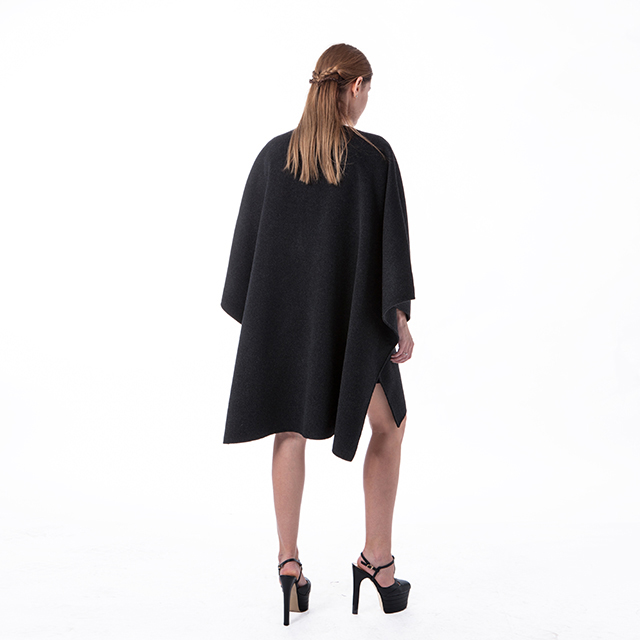 New black cashmere overcoat