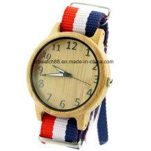 2017 Wood Watch Interchangeable Nylon Band Straps Men Sports Watches