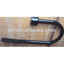 Beautiful and cheap black painted medal curtain hook for living room windows made in Zhejiang China