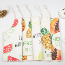 Custom Kitchen Fashion PU Oil Proof Waterproof Apron
