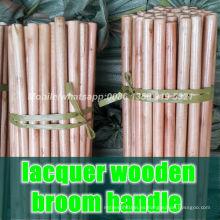 Manijas de madera de la escoba de la laca, manijas de madera baratas de la escoba de la laca, manija de la escoba de madera de la laca de las ventas al por mayor